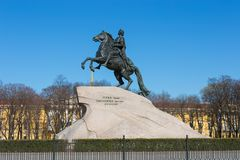 Ιππέας χαλκού, Αγία Πετρούπολη, Ρωσία Στοκ Φωτογραφία