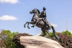 Ιππέας χαλκού - μνημείο στο Μέγας Πέτρο στη Αγία Πετρούπολη, Στοκ εικόνες με δικαίωμα ελεύθερης χρήσης