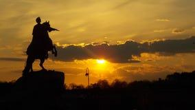 Ιππέας χαλκού Στοκ Φωτογραφία
