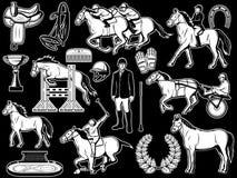 Ιππική λέσχη, jockey στοιχεία ιππασίας πόλο ελεύθερη απεικόνιση δικαιώματος