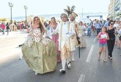 Ιππική παρέλαση των ιστορικών μεταφορών - ΤΠ της Νάπολης Στοκ εικόνα με δικαίωμα ελεύθερης χρήσης