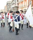 Ιππική παρέλαση των ιστορικών μεταφορών - ΤΠ της Νάπολης Στοκ φωτογραφία με δικαίωμα ελεύθερης χρήσης