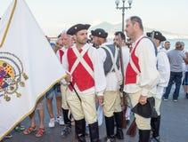 Ιππική παρέλαση των ιστορικών μεταφορών - ΤΠ της Νάπολης Στοκ Εικόνες