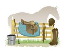 Ιππικός εξοπλισμός απεικόνιση αποθεμάτων