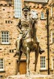Ιππικό άγαλμα στο Εδιμβούργο Castle Στοκ Φωτογραφία