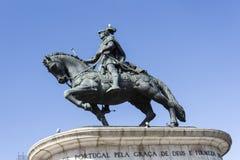Ιππικό άγαλμα της Λισσαβώνας Στοκ Φωτογραφία