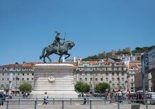 Ιππικό άγαλμα της Λισσαβώνας Στοκ Φωτογραφίες