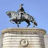 Ιππικό άγαλμα της Λισσαβώνας HDR Στοκ Φωτογραφία