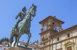 Ιππικό άγαλμα του Ferdinand I, βασιλιάς της Αραγονίας, Antequera Στοκ φωτογραφία με δικαίωμα ελεύθερης χρήσης