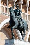 Ιππικό άγαλμα του ενετικού γενικού Gattamelata στην Πάδοβα, Στοκ Φωτογραφία