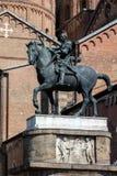 Ιππικό άγαλμα του ενετικού γενικού Gattamelata στην Πάδοβα, Στοκ Εικόνες