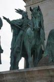 Ιππικό άγαλμα του μαγυαρικού φυλετικού οπλαρχηγού Στοκ Εικόνες