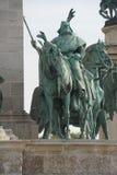 Ιππικό άγαλμα του μαγυαρικού φυλετικού οπλαρχηγού Στοκ Φωτογραφίες