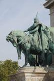 Ιππικό άγαλμα του μαγυαρικού φυλετικού οπλαρχηγού Στοκ φωτογραφία με δικαίωμα ελεύθερης χρήσης