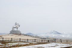 Ιππικό άγαλμα Khan Genghis - Μογγολία στοκ εικόνα