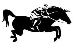 ιππικό αθλητικό διάνυσμα Στοκ εικόνα με δικαίωμα ελεύθερης χρήσης