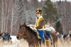 Ιππικό σε ένα άλογο Στοκ Εικόνα