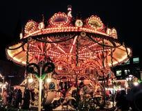 Ιπποδρόμιο Χριστουγέννων στην αγορά Χριστουγέννων Στοκ Φωτογραφίες