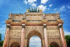 Ιπποδρόμιο de triomphe du τόξων στο Παρίσι Γαλλία Στοκ Εικόνα