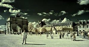 Ιπποδρόμιο de triomphe du τόξων στο Παρίσι Στοκ φωτογραφία με δικαίωμα ελεύθερης χρήσης