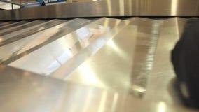 Ιπποδρόμιο αποσκευών σφιχτό απόθεμα βίντεο