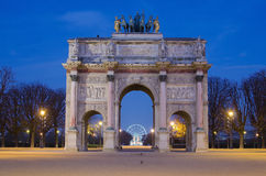 1805 1806 ιπποδρόμιο αψίδων 1808 τόξων τιμούν την μνήμη της ανατεθειμένης λεπτομέρειας du emperor Γαλλία ι de des προαυλίων jardi Στοκ Φωτογραφία