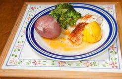 ιππόγλωσσος γευμάτων υ&gamm Στοκ Εικόνες