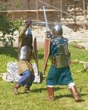 ιππότες μάχης Στοκ εικόνα με δικαίωμα ελεύθερης χρήσης