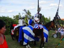 Ιππότες που, κάστρο Wenecja, Πολωνία Στοκ Εικόνες