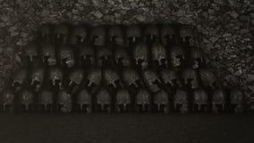 Ιππότες που προετοιμάζονται στον πόλεμο σε ένα οπλοστάσιο