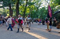 Ιππότες στο τεθωρακισμένο Στοκ φωτογραφία με δικαίωμα ελεύθερης χρήσης