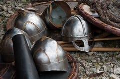 Ιππότες τεθωρακισμένων αναδημιουργίας Στοκ φωτογραφία με δικαίωμα ελεύθερης χρήσης