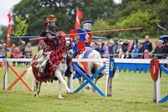 Ιππότες Jousting Στοκ Φωτογραφίες