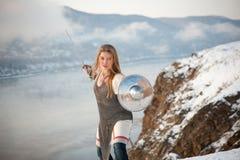 Ιππότης κοριτσιών Στοκ Φωτογραφίες