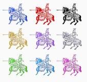 ιππότης μεσαιωνικός Στοκ εικόνες με δικαίωμα ελεύθερης χρήσης