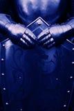 Ιππότης - με το μπλε χρώμα Στοκ Φωτογραφία
