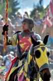 ιππότης πλατών αλόγου μεσαιωνικός Στοκ φωτογραφία με δικαίωμα ελεύθερης χρήσης