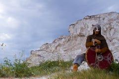 Ιππότης σε έναν βράχο Στοκ Φωτογραφία