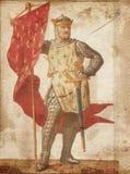 Ιππότης σε εκλεκτής ποιότητας χαρτί διανυσματική απεικόνιση