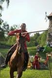 Ιππότης στα πρωταθλήματα αλόγων Στοκ Φωτογραφίες