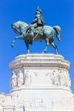 Ιππότης στο άγαλμα αλόγων - Ρώμη Ιταλία Στοκ Εικόνες