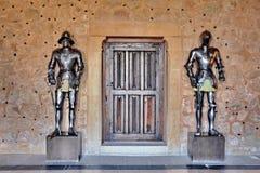 ιππότης τεθωρακισμένων μεσαιωνικός Στοκ φωτογραφία με δικαίωμα ελεύθερης χρήσης