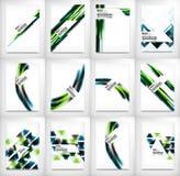 Ιπτάμενα, πρότυπα σχεδίου φυλλάδιων καθορισμένα, σχεδιαγράμματα Στοκ εικόνα με δικαίωμα ελεύθερης χρήσης
