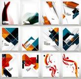 Ιπτάμενα, σύνολο προτύπων σχεδίου φυλλάδιων Στοκ Εικόνες