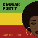 Ιπτάμενο γεγονότος κομμάτων Reggae Δημιουργική εκλεκτής ποιότητας αφίσα Στοκ Εικόνες