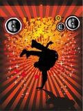 ιπτάμενο γεγονότος χορού σπασιμάτων Στοκ Εικόνες