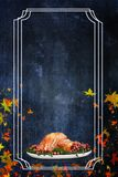 Ιπτάμενο γευμάτων της Τουρκίας ημέρας των ευχαριστιών διακοπών Στοκ Εικόνα