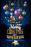 Ιπτάμενο γιορτής Χριστουγέννων για τα γεγονότα νύχτας μουσικής, αφίσα λεσχών Στοκ Εικόνα