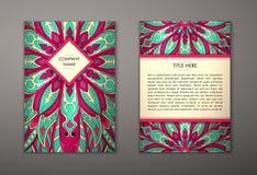 Ιπτάμενο με το Floral σχέδιο mandala Στοκ Φωτογραφίες