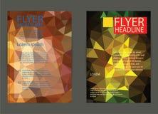 Ιπτάμενο, πρότυπα σχεδίου φυλλάδιων Γεωμετρική τριγωνική περίληψη Στοκ Εικόνα